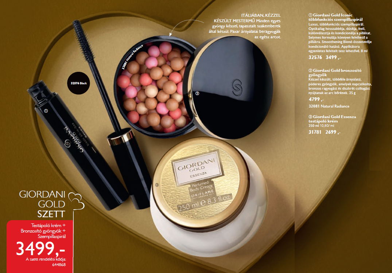 Oriflame Giordani Szett Akci A 2 Es Katalgusban Gold Body Cream Essenza