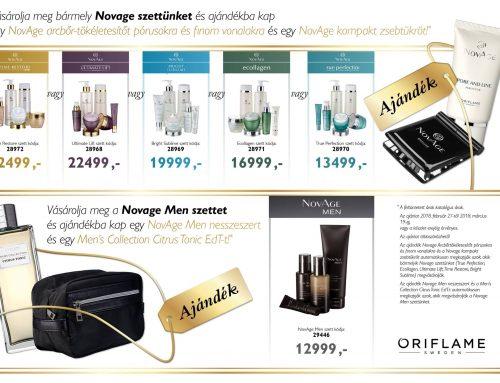 Ajándékok NovAge szetthez a 2018. 4-es Oriflame kampányban