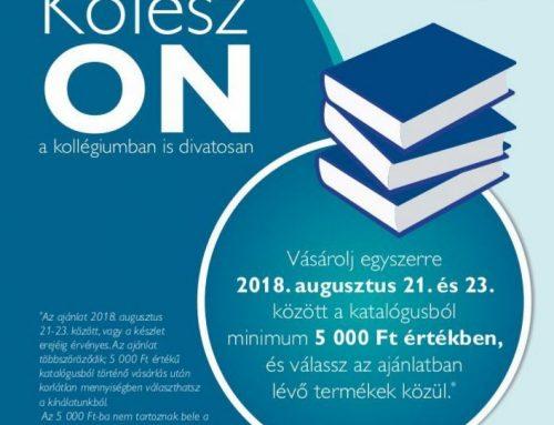 Kolesz ON akció augusztus 21-23. között