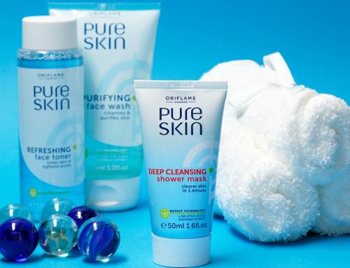 Oriflame Pure Skin zuhanyozás közben használható mélytisztító arcmaszk